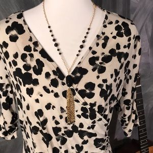 Style & Co Tops - Style & Co Animal print cross body top